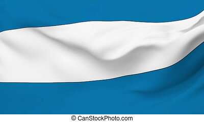 Flag of El Salvador - Flag of the El Salvador waving in the...
