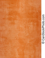 Grunge brown or orange plaster wall with stains