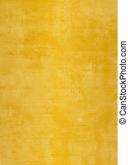 Grunge gold or yellow plaster wall with stains