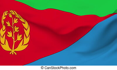 Flag of Eritrea - Flag of the Eritrea waving in the wind...