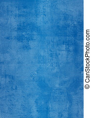 Grunge blue plaster wall with stains