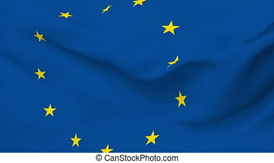 Flag of Europe - Flag of the Europe waving in the wind....