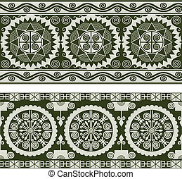 abstract seamless scroll pattern