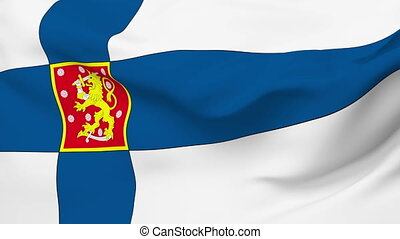 Flag of Finland - Flag of the Finland waving in the wind....