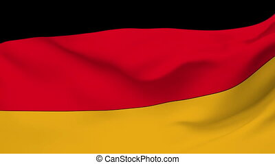 Flag of Germany - Flag of the Germany waving in the wind...