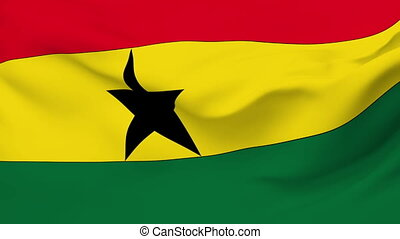 Flag of Ghana - Flag of the Ghana waving in the wind....
