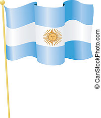 Vector Flag of Argentina on a white background