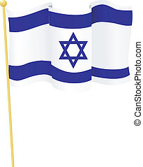 Vector Flag of Israel - Vector Flag of Israel on a white...