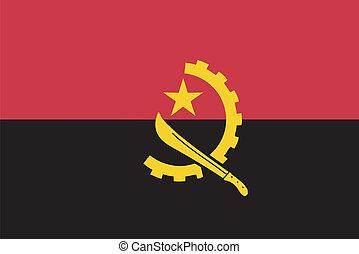 Vector flag of  Angola