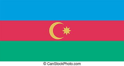 Vector flag of Azerbaijan