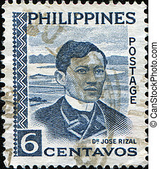 Dr Jose Rizal - PHILIPPIES - CIRCA 1954: A stamp printed in...