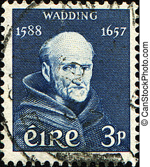 Luke Wadding - IRELAND - CIRCA 1957: A stamp printed in...