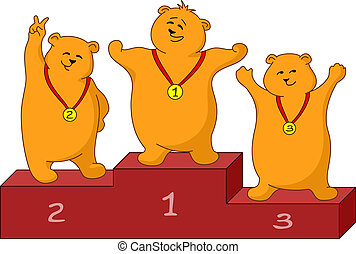 Teddy bears sportsmans - Sports picture: teddy bears...