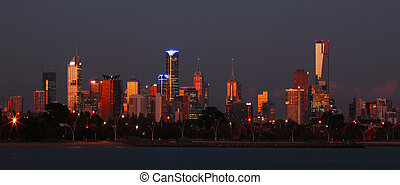 Melbourne City Skyline - A view of Melbourne City skyline...