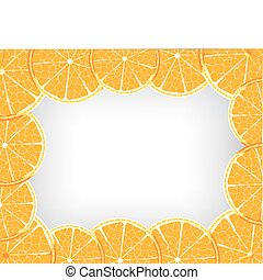 Orange background - Vector orange frame
