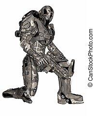 futurista, soldado
