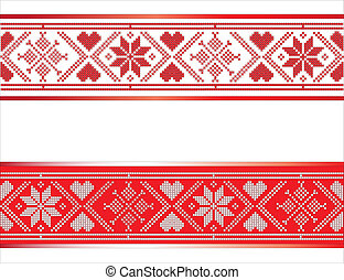 Scandinavian Ribbon - Festive Scandinavian style ribbons...