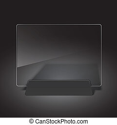 Glass billboard Vector illustration Eps10