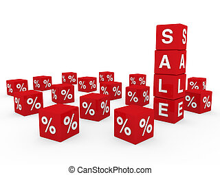 3d sale cube red discount percentage sell buy
