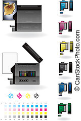 Office InkJet PrinterPhotocopier - Medium Office Color Photo...