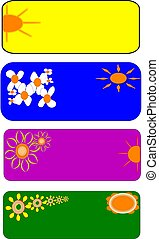 spring is here  id tags - tags and labels depicting spring