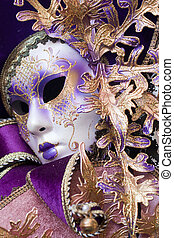 purple decorative venetian mask