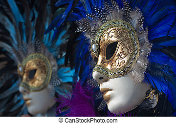 carnival masks in venice - beautiful carnival masks with...