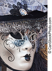 female decorative venice carnival mask