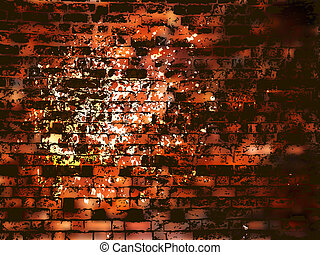 Abstract grunge brick wall with stains. EPS 8