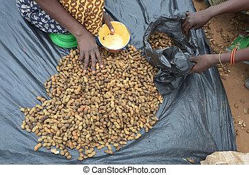 peanuts market in Malawi