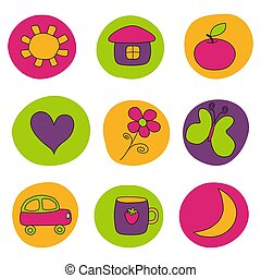 Design elements for babies - Graphic illustration