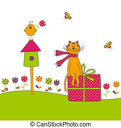 Greeting card - Graphic illustration