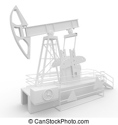 3d generic oil pump-jack isolated on white