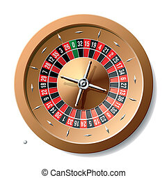 Roulette wheel - Vector illustration of a roulette wheel...