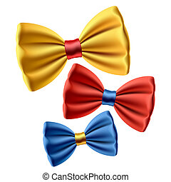 Set of bow ties - Vector illustration of colorful bow-ties