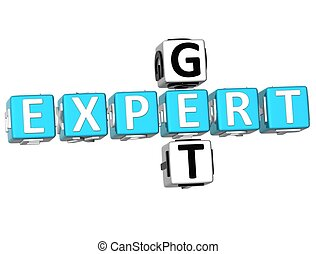 Get Expert Crossword - 3D Get Expert Crossword on white...