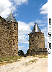 Carcassonne fortress in the south of France