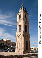 Clock tower in Tel Aviv, Israel - Clock tower in Jaffa, Tel...
