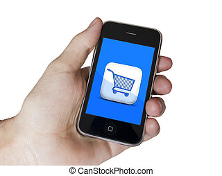 Modern touch blue screen phone E-Commerce