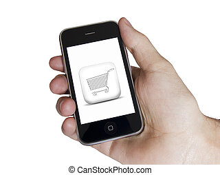 Modern touch white screen phone e-commerce