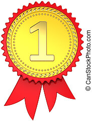 Award ribbon number one winner