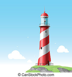 Lighthouse - Vector illustration of a lighthouse