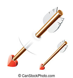Cupid arrow - Vector illustration Easy to put in to...