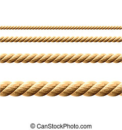 Seamless Rope - Seamless vector illustration of a rope