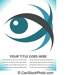 Striking eye design - Striking eye design with copy space