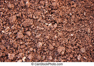 Red soil - Simple red soil as background or texture