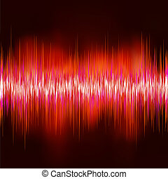 Wave sound background. EPS 8 vector file included