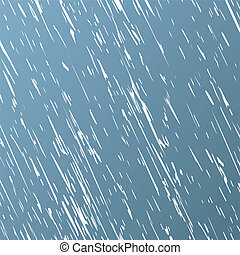 Downpour - Strong rain in the grey sky. A vector...