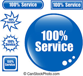 SERVICE 100 Web Button set of different form icon