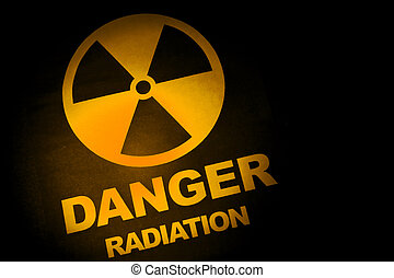 radiação, perigo, sinal